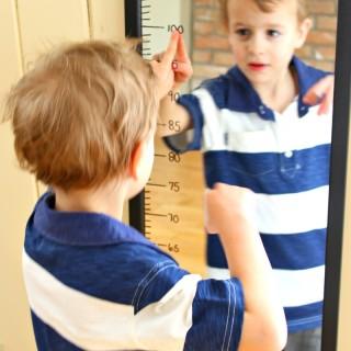 measuring mirror text