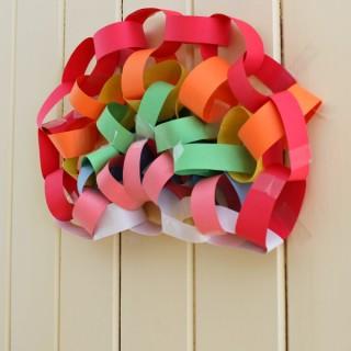 paper chain rainbow
