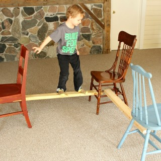 A Balancing beam for toddlers
