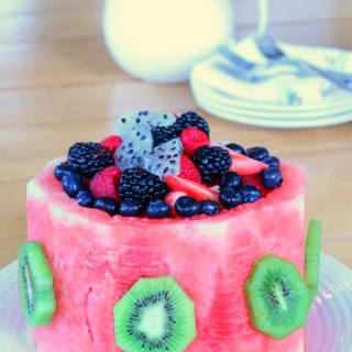 Healthy and pretty watermelon cake