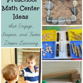 things to add to preschool math centers