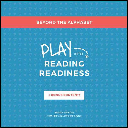 Get your 3-6 year old beyond the alphabet and ready to read with these 7 essential skills!! I love that they are all taught through play