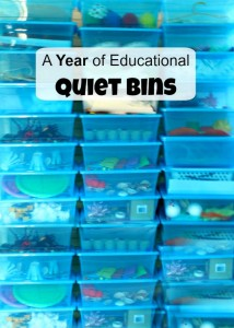 An entire year of educational quiet bins!