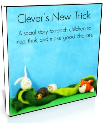 A sweet social story to help little ones remember to stop and think before making choices!