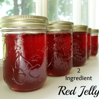 Two Ingredient Red Jelly