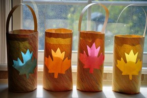 Fall crafts for kids - scribble lanterns