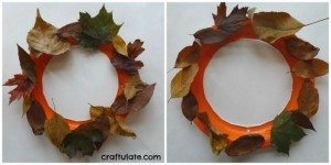 Fall crafts for preschoolers - fall leaf wreath