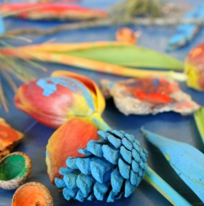 Fall crafts for preschoolers - nature painting