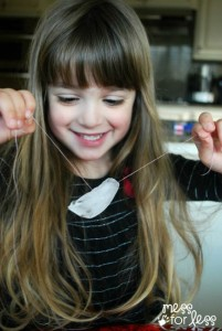 Science experiments for kids - lifting ice