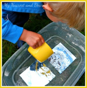 Science experiments for kids - water and refraction