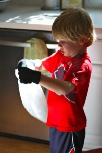 Science experiments for preschoolers - ice cream in a bag