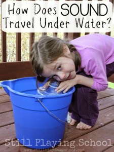 Science experiments for preschoolers - sound in water