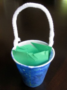 Nursery rhyme crafts for toddlers - Jack and Jill pail