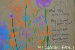 Nursery rhyme crafts for toddlers - Mary's garden