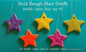 Nursery rhyme crafts for toddlers - dough stars