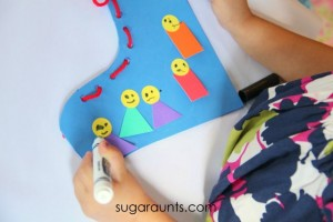 Nursery rhyme crafts for toddlers - old woman who lived in a shoe