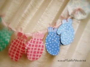 Nursery rhyme crafts for toddlers - patterned mittens