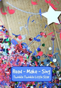 Nursery rhyme crafts for toddlers - sparkly twinkle star art