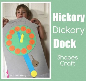 Nursery rhymes crafts - hickory dickory dock shape craft
