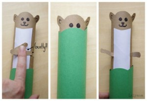 Nursery rhymes crafts - pop goes the weasel