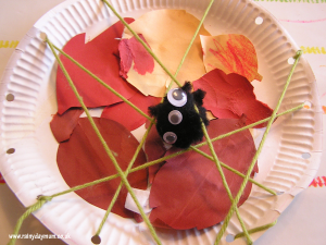 Nursery rhymes crafts - spider web
