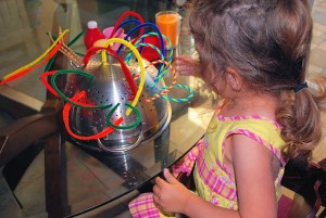 Quiet activities for two year olds - fun with pipe cleaners