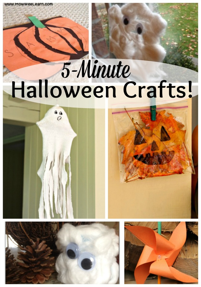5 minute halloween crafts how wee learn