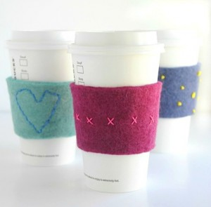 Gifts kids can make - coffee cozies
