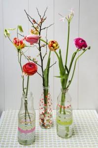 Gifts kids can make - flower bottles