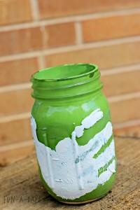 Gifts kids can make - hand print mason jars