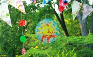 Gifts kids can make - melted bead sun catchers