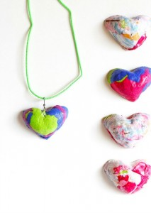 Gifts kids can make - paper pendants