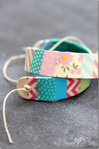 Gifts kids can make - washi tape bracelets
