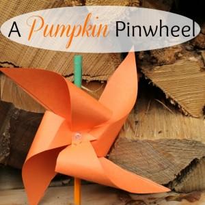 A Pumpkin Pinwheel