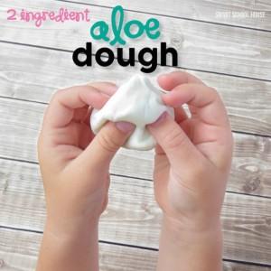Easy play dough recipe - aloe dough