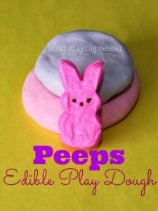 Easy play dough recipe - peeps play dough