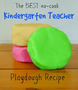 Easy play dough recipe - the best ever no cook play dough