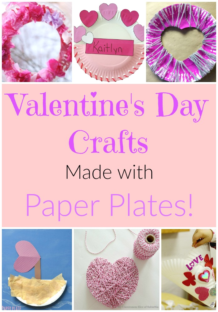 The sweetest Paper Plate Valentine crafts for preschoolers and toddlers!