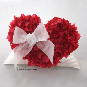 Paper plate valentine crafts - heart pop up craft