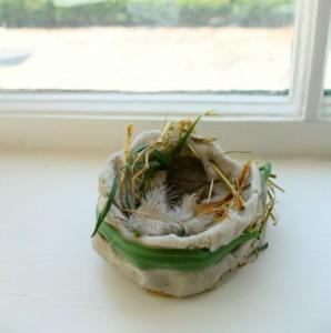 Nature crafts for kids - bird nest