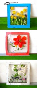 Nature crafts for kids - flower panels