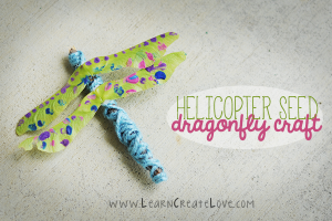 Nature crafts for kids - helicopter seed dragonfly