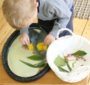 Nature crafts for kids - nature portraits