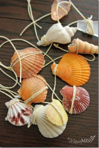 Nature crafts for kids - shell wind chime