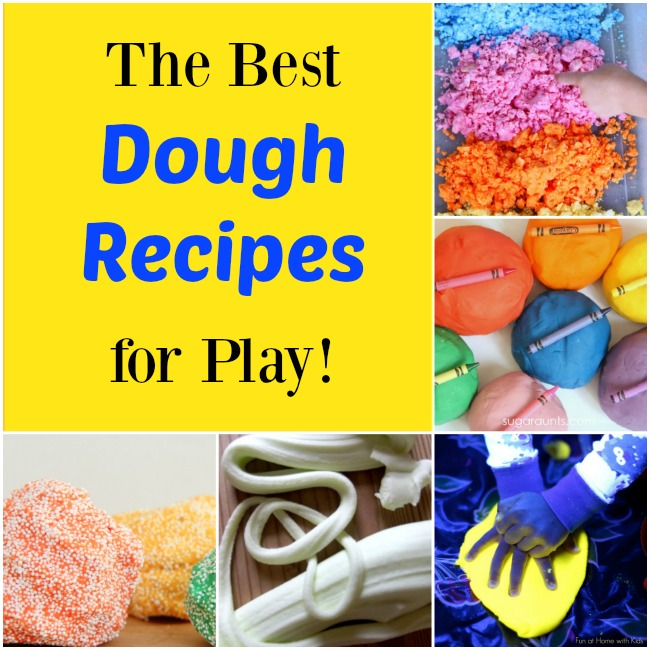 These are the best and easiest play dough recipes for kids!