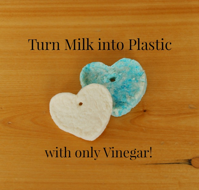Turn milk into plastic with only vinegar