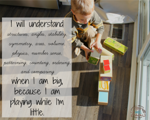 I will understand ... when I'm big, because I am playing while I'm little