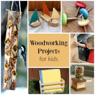 These are incredible woodworking projects for kids - and even preschoolers!