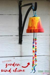 Fun garden ideas - kid made garden wind chime