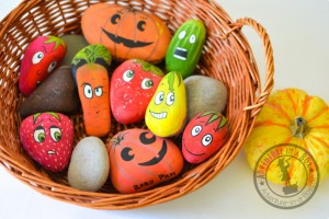 Garden fun - make garden markers with stones